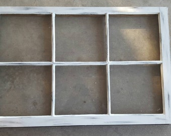 3 pane window large 32x24 old antique shabby farm house vintage window sash lightly distressed rustic no glass pane etsy