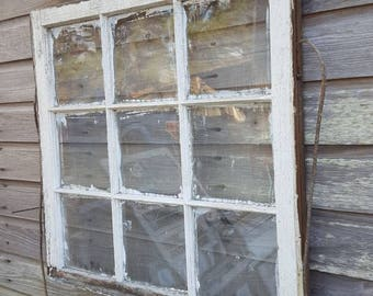 wavy glass windows 1800's architectural salvage antique farm window sash frame pane 32x32 rustic cottage wedding wavy melted glass etsy
