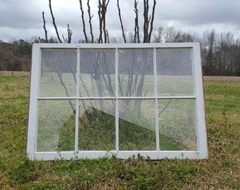8 Pane Vintage Antique Wood Window Frame Sash *No Glass*