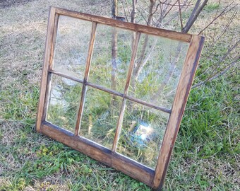 Stained vintage antique window sash