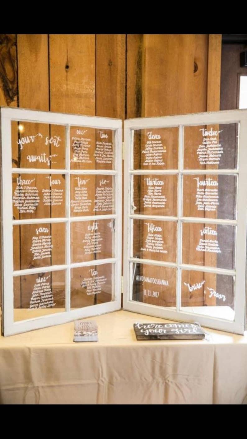 8 Pane Vintage Sash Antique Window Set 40x32 Wedding Seating Etsy
