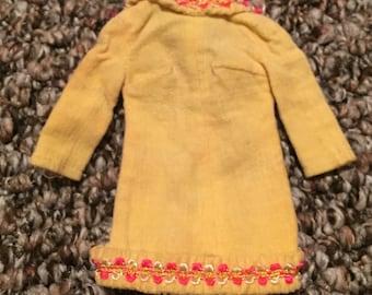 Barbie Mod Era Mellow Yellow Dress 1969 / Vintage