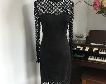 Handmade suede dress size 6-8