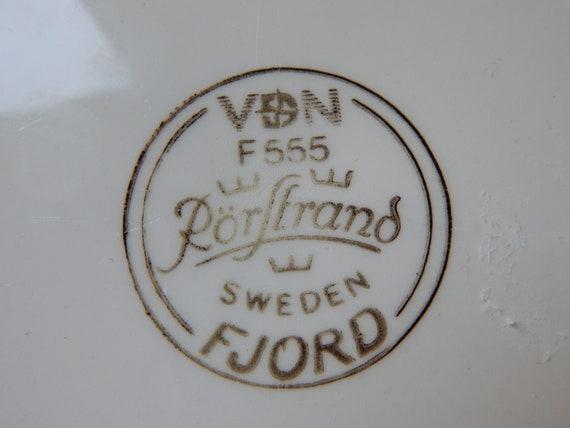 Cocina Y Comedor Vintage Rorstrand Sweden Fjord Cake Plate