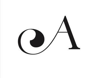 A - alphabet Poster-Digital art, Inspirational wall decoration