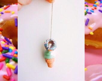 sweet summer ice cream/ donut charm    jewelry