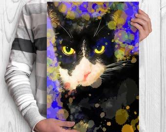 Cat portrait Custom cat portrait Pet portrait Cat painting Cat memorial Cat loss gift Cat painting Watercolor Cat loss portrait Cat memorial