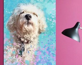 Watercolor dog portrait, Dog portrait custom, Dog portrait from photo, Custom dog portrait, Commission portrait, Custom pet portrait
