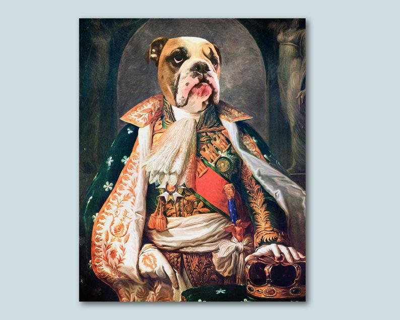 e1cd2b9bdc Dog in costume Vintage dog painting Historical dog portrait