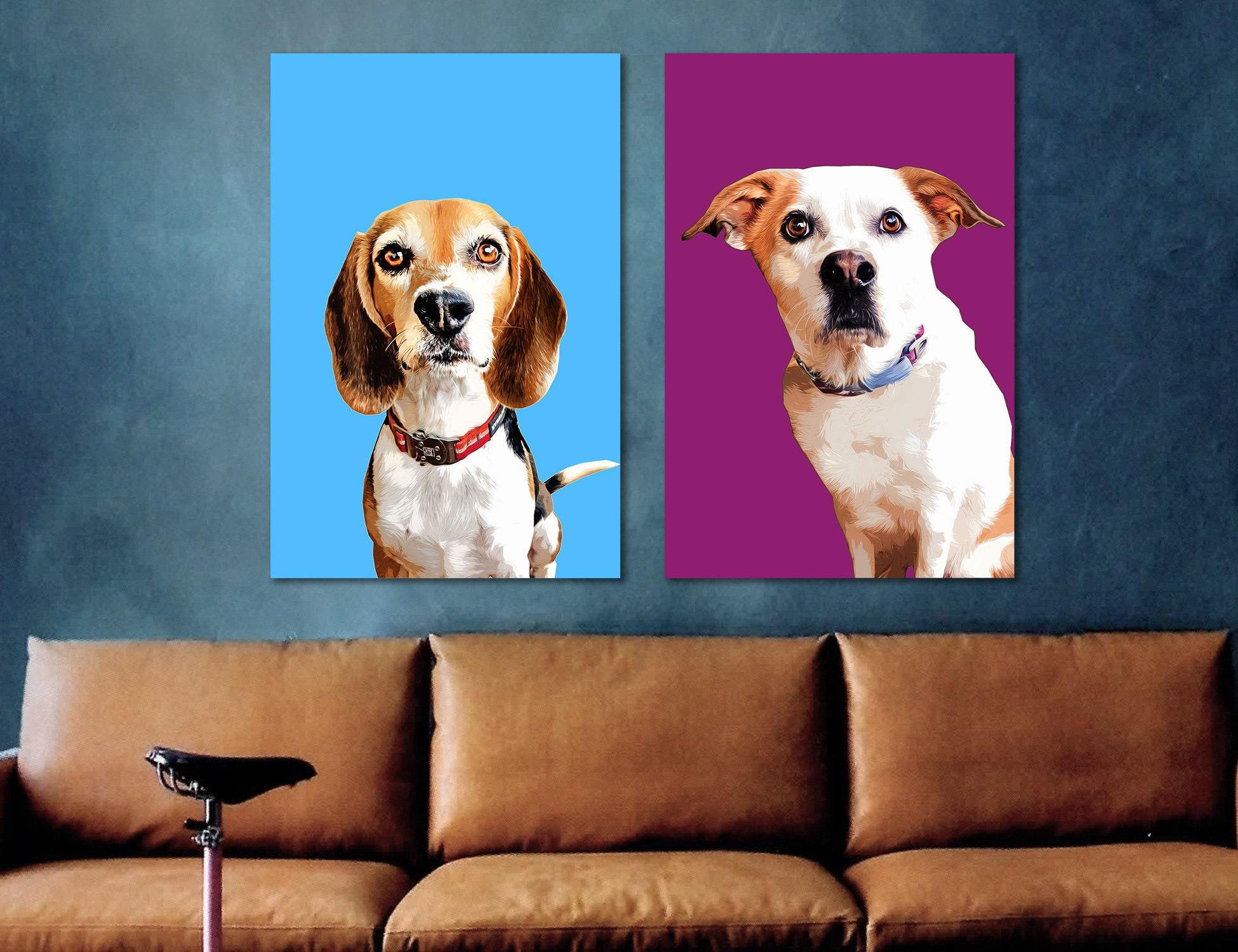 Haustier Hund Besitzer Geschenk Custom Tierportrait | Etsy