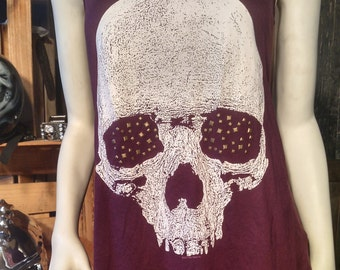 Skull Racerback Tank with Stud Eyes