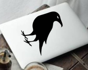 570196c04 Raven Bird animal vinyl decal for cars walls tumblers cups laptops windows  f3 bumper sticker phones iPhones walls windows tumblers car