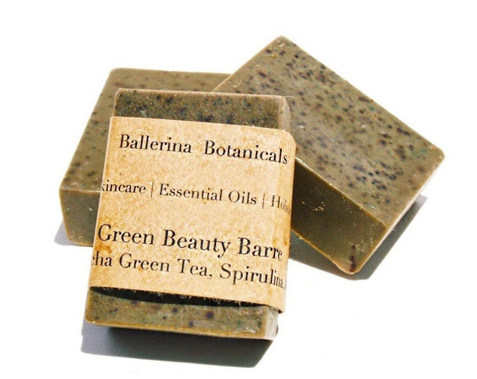 Spirulina Soap with Matcha Green Tea, and Peppermint Essential Oil for a Bath & Shower Body Wash | Vegan Soap | Handmade Soap | Organic Soap