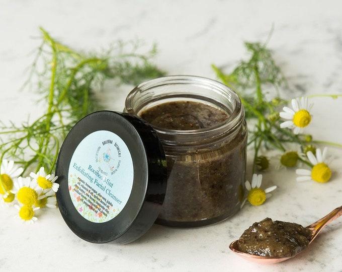 Facial Scrub | With Organic Rooibos Tea, Peppermint Oil, Chamomile Oil, Lemon Oil | Acne Face Scrub | Sugar Scrub, Face Cleanser (2 oz)