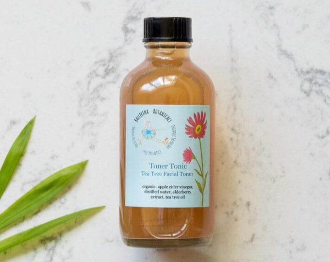 Facial Toner | Apple Cider Vinegar Toner For Acne and Oily Skin | Tea Tree Toner | (4 oz), Gift For Her