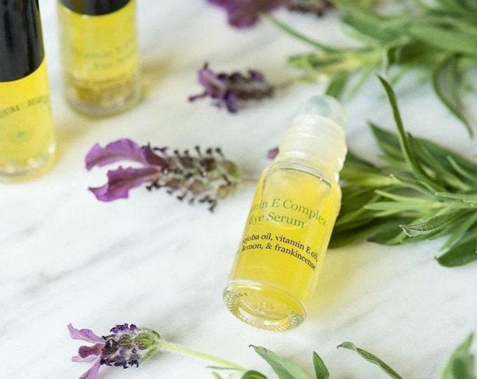 Organic Eye Serum | Under Eye Serum with Vitamin E oil, Lavender, Frankincense, & Lemon oil for Anti Aging, Dark Spots, Firming, Wrinkles