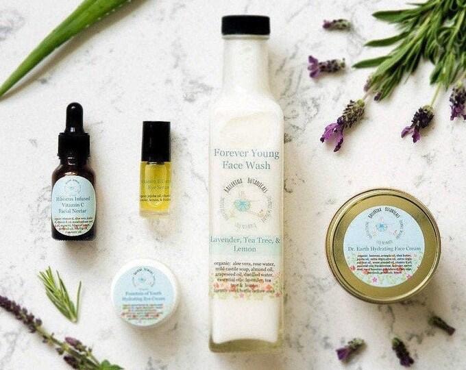 Anti Aging Skin Care Set | With Facial Cleanser, Facial Serum, Eye Serum, Organic Eye Cream, Face Cream | Natural Skin Care | Facial Care