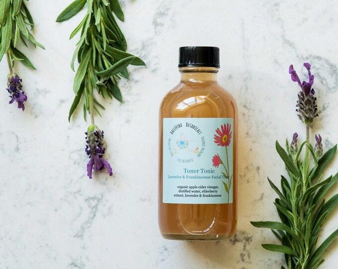 Anti Aging Facial Toner | Apple Cider Vinegar Toner with Lavender & Frankincense | Organic Toner for Aging and Combination Skin Types 4oz