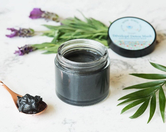 Charcoal Mask | Acne Mask With Activated Charcoal, Manuka Honey, Bentonite Clay, Tea Tree, Lemon, and Lavender | Organic Charcoal Face Mask