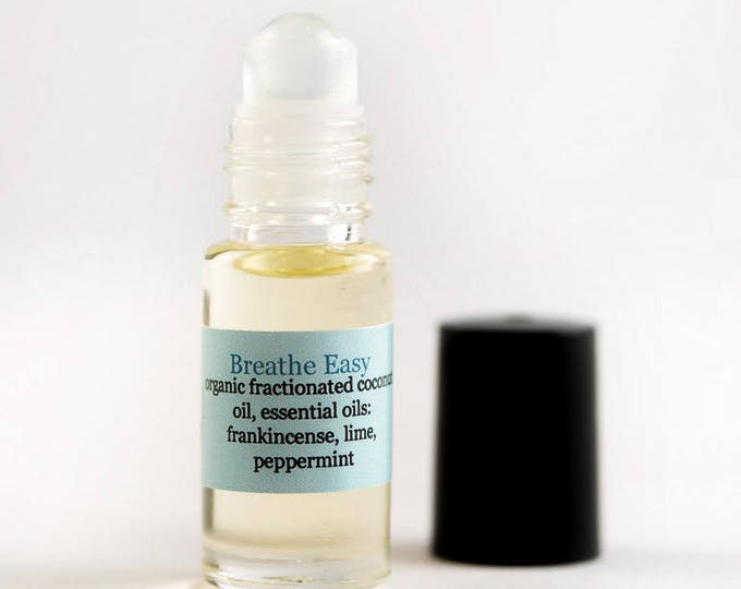 Breathe Easy Essential Oil Roll On with Frankincense, Lime, and Peppermint for Asthma and Allergy Roll On | Essential Oil Blend