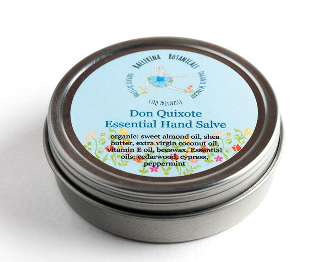 Hand Salve with Cedarwood, Cypress, and Peppermint Essential Oils | Hand Salve for Dry Skin and Chapped Skin | Hand Cream