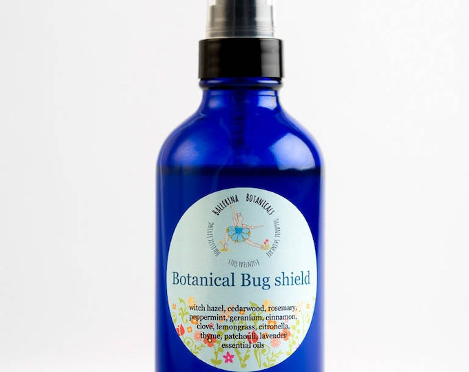 Organic Bug Spray | Natural Bug Spray| Bug Repellent with 11 Essential Oils and Witch Hazel for Mosquito Repellent, Ticks, and Flies | 4 oz