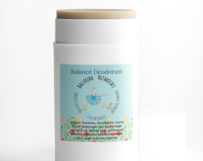 Organic Deodorant | Bentonite Clay, Sandalwood, Tea Tree, Cypress, and Sage | Clay Deodorant | For Deodorizing, and Detoxifying