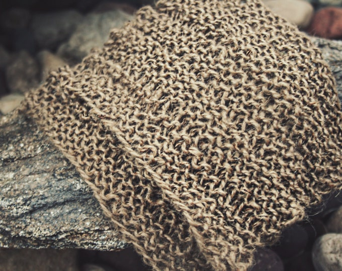 Exfoliating Washcloth | Jute Washcloth Hand Knit by Us for Dry skin and Body Exfoliation in the Bath or Shower