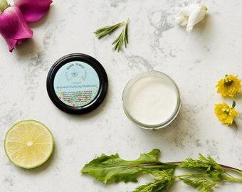 Vegan Face Cream | Plant Based Moisturizer with Essential Oils | Organic Face Cream for Oily Skin | Clarifying Face Cream, 2 oz moisturizer
