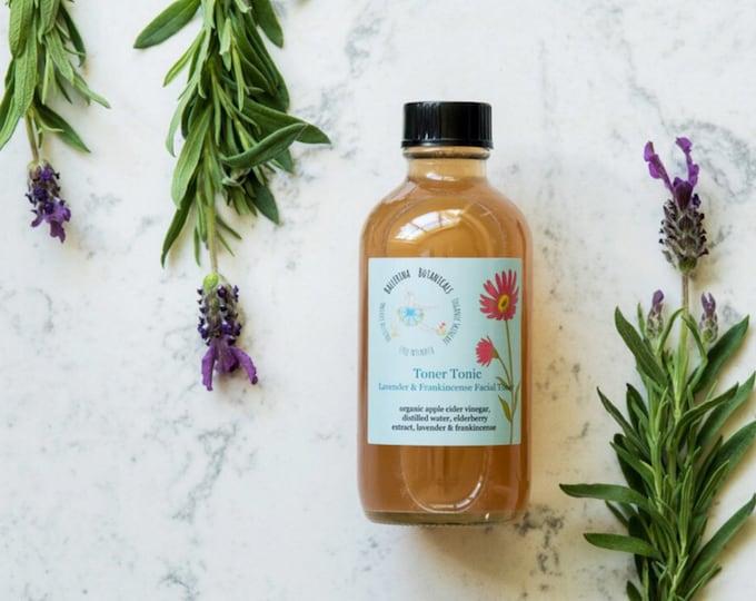 Anti Aging Facial Toner | Apple Cider Vinegar Toner with Lavender & Frankincense for Aging and Combination Skin Types | 4oz, Organic Toner