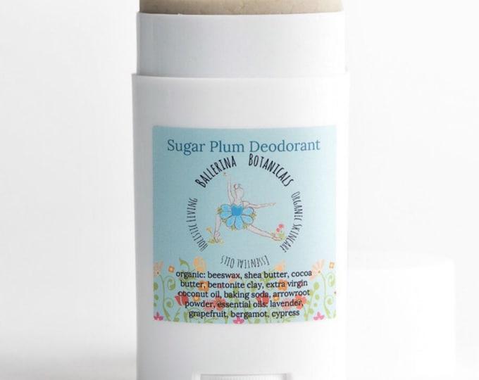 Organic Deodorant with Bentonite Clay, Grapefruit, Bergamot, Lavender | Natural Deodorant for Deodorizing, Detoxifying, and Aluminum Free