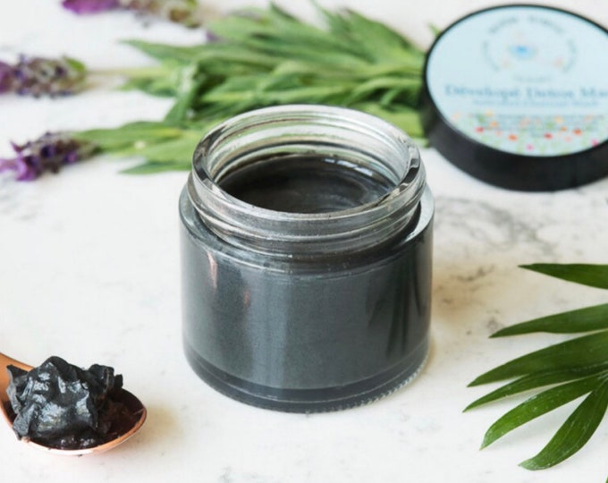 Charcoal Mask | Acne Mask With Activated Charcoal, Manuka Honey, Bentonite Clay, Tea Tree, Lemon, and Lavender | Clay Face Mask, (2 oz)