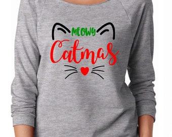 christmas cat shirt meowy catmas cat shirt christmas shirt cat christmas