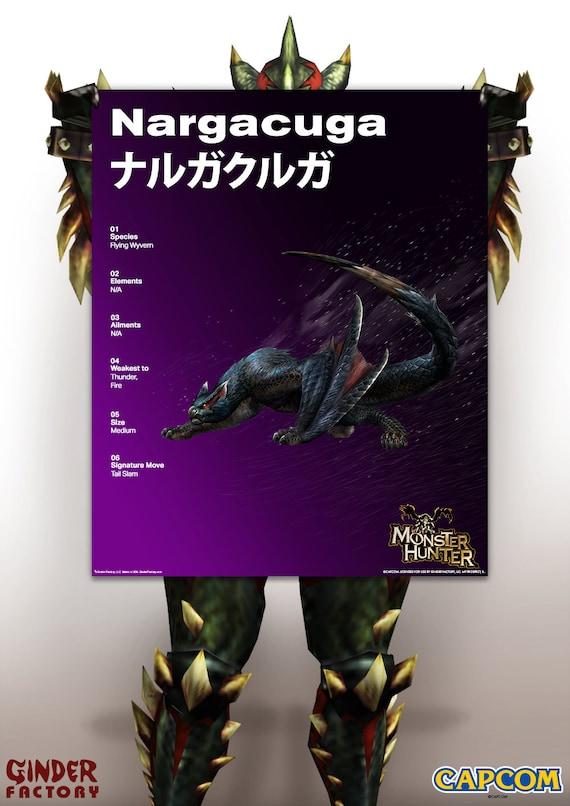 Monster Hunter Poster Nargacuga Monster Hunter Generations Etsy