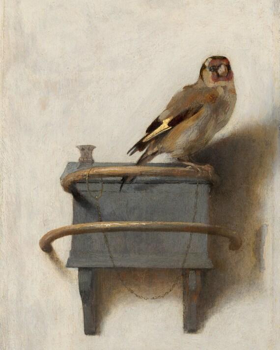 Il Goldfinch di Carel Fabritius Vintage Bird Painting | Etsy