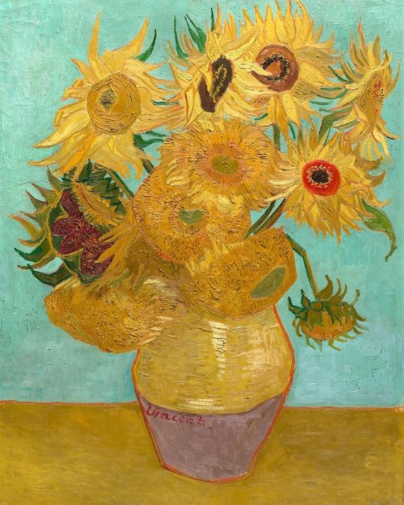 Vase with Twelve Sunflowers by Vincent Van Gogh Van Gogh | Etsy