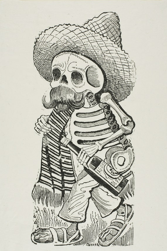 Calavera of Francisco Madero by Jose Guadalupe Posada | Etsy