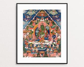 Green Tara Buddha Print - Tibetan Art - Goddess Art - Buddhism - Spiritual - Buddha Wall Art - Asian Art - Meditation Gifts - Buddha Art