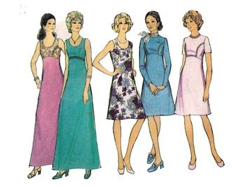 "Style 3997, 70s sewing pattern, size 16 bust 39"" women's dress pattern, maxi dress, summer dress"