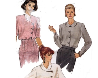 Uncut Vogue 8202, 90s Sewing Pattern, Misses' Blouse, Loose-Fitting Blouse, Size 20-22-24.