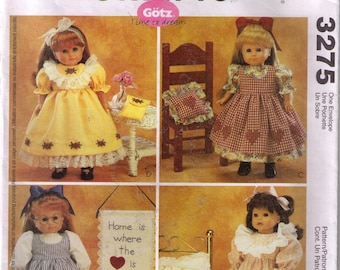 McCall/'s 3275 OOP 18 inch Girl Doll Clothes Pattern American Country Ruffles