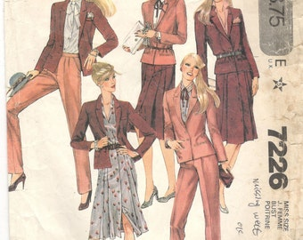 McCall/'s Saint-Tropez West Carole Little 1979 Sewing Pattern #6725 jacket skirt pants size 16 Norton Simon Complete
