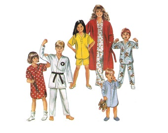 Simplicity 9938 1 Hour Misses Pajamas Nightshirt and Lounge  fea75bc73