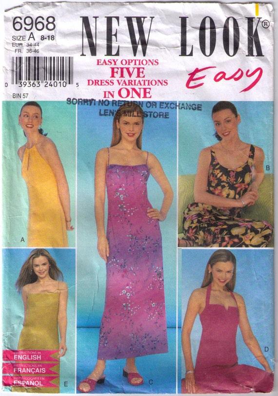 Unbeschnittenen neuen Look 6968 Schnittmuster Größe 8-18 | Etsy