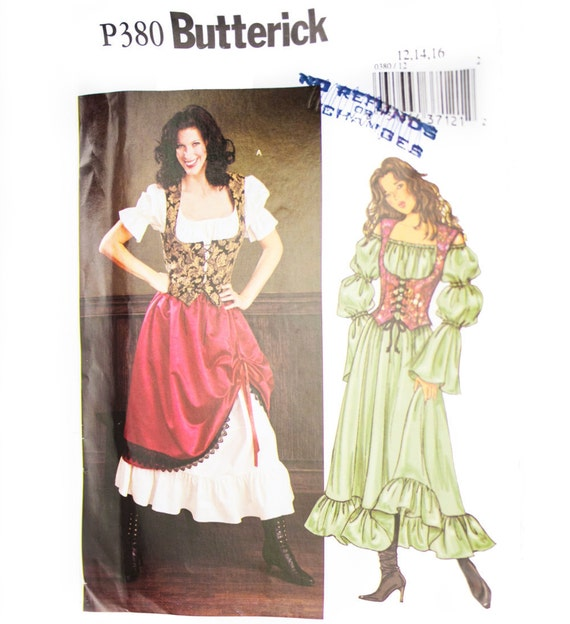 Uncut Butterick Sewing Pattern p380 Medieval Dress | Etsy