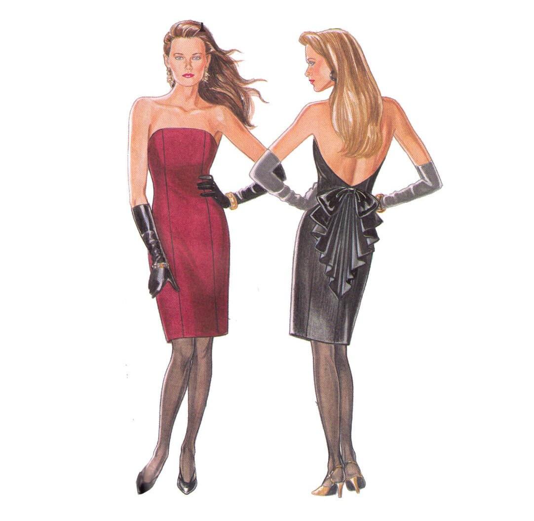 Sin cortar nuevo Look 6225 costura patrón Sexy Vestido   Etsy