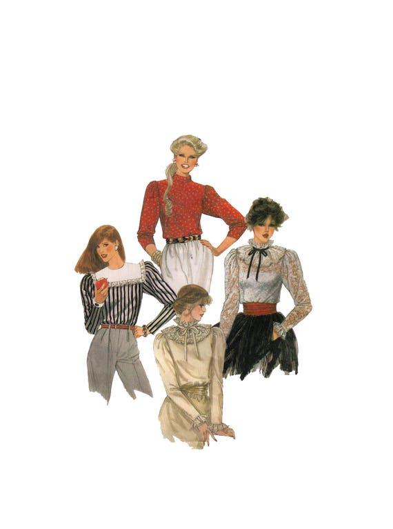 De McCall 7825 80s costura patrón blusa de las mujeres de | Etsy