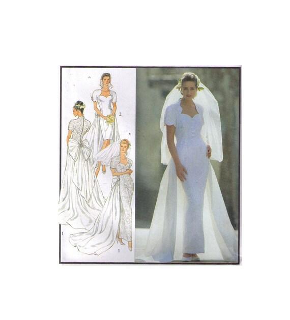 Uncut Style 2066 90s sewing pattern size 8-18 wedding dress | Etsy