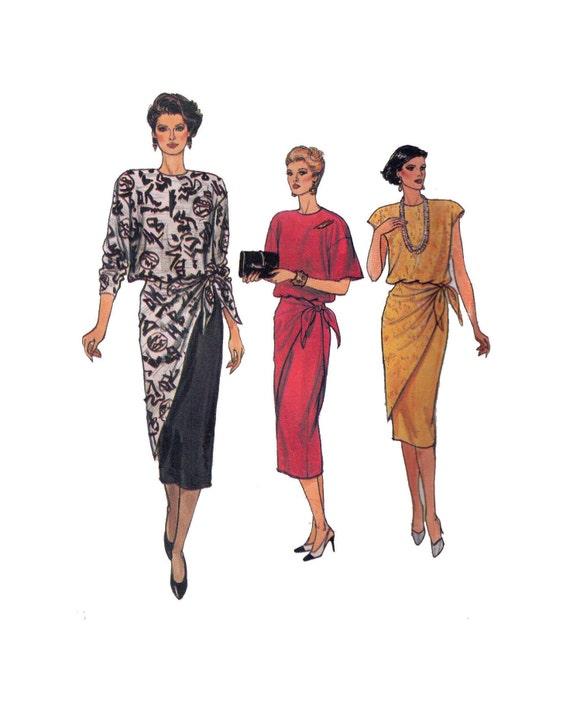 Vogue 9258 patrón las mujeres de talla 10 camiseta y falda | Etsy