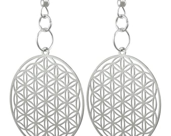 Flower of Life Earrings  'Buy One Get Another Design Free'  ER-01-S